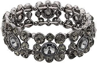 EVER FAITH Round Austrian Crystal Vintage Style Elastic Stretch Bracelet