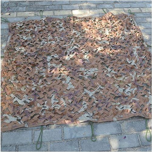Qjifangfsh Filet d'ombrage Filet de Camouflage, Filet de décoration de Voiture Multifonctionnel extérieur pour Camouflage du désert, Multi-Tailles Tente cachée d'extérieur en Filet de Camouflage
