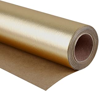 WRAPAHOLIC Gift Wrapping Paper Roll - Basic Texture Matte Gold for Birthday, Holiday, Wedding, Wrap - 30 inch x 16.5 feet