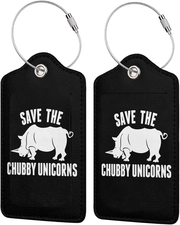 Save Omaha Mall The Chubby Ranking TOP13 Unicorn PU Leather Lab Luggage Tags ID Rectangle