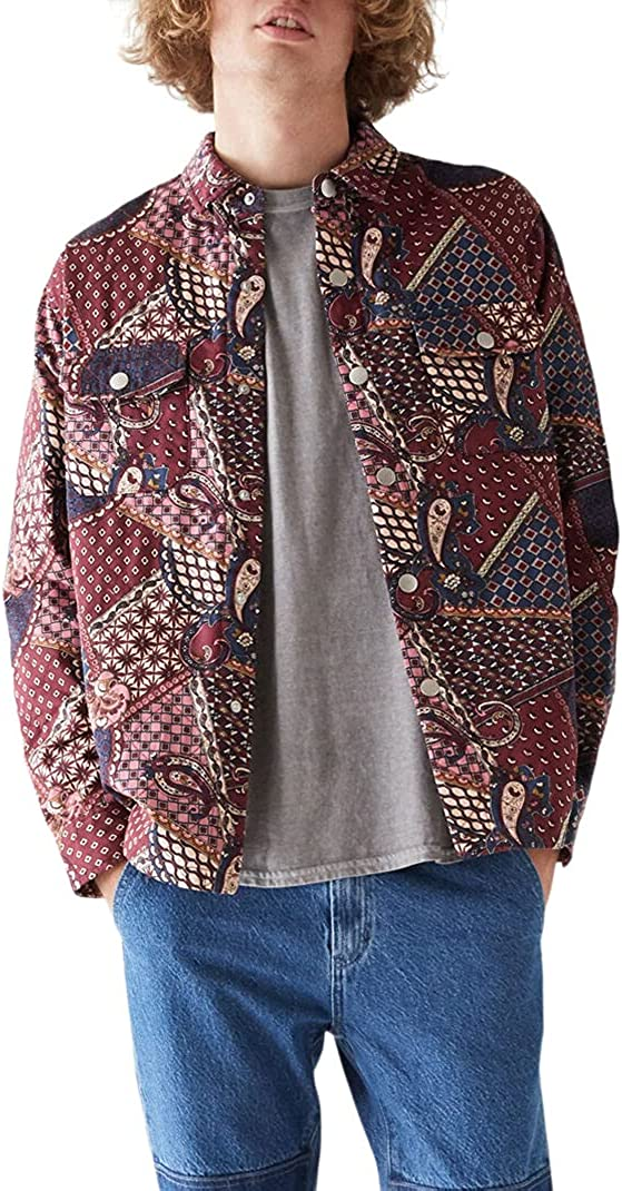 PacSun Men's Quilted Choice Over item handling Shirt Jacket