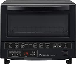 Panasonic FlashXpress Compact Toaster Oven with Double Infrared Heating, Crumb Tray and 1300 Watts of Cooking Power – 4 Sl...