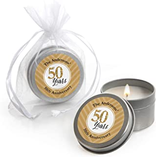 Custom We Still Do - 50th Wedding Anniversary - Personalized Candle Tin Anniversary Party Favors - Set of 12