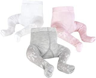 OioTuyi Baby Knitted Tights Seamless Cotton Leggings 3 Pack Pantyhose for Girls New-Born Infants Toddlers 0-2Y(Pink+White+...