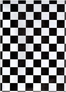 Zip Tac Black & White Checkers Contact paper--9 ft x 18in