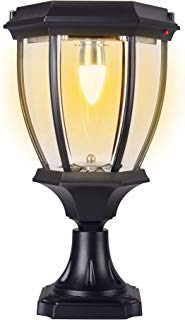 Kendal Large Outdoor Solar Powered LED Light Warm White Pillar Lamp SL-8407