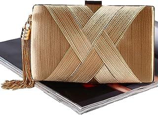 SYMALL Damen-Handtasche mit Fransen und Quasten, elegante Abendtasche für Frauen, Hochzeit, Party, Abend, Brauttasche, Vin...