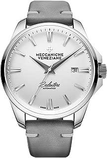 Forte Marghera 1201011 - Reloj automático para Hombre (Correa de Piel, edición Limitada), Color Blanco
