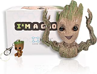 Boxiti Baby Groot Pen Holders - Groot Planter Guardian of The Galaxy - Groot Flowerpot Toy Comes with Free Groot Key Ring - Gift Idea (Model 4)