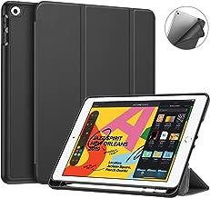 """FINTIE Custodia per iPad 10.2 Pollici 2019 con Built-in Apple Pencil Holder - Sottile Leggero Cover con Auto Sonno/Sveglia la Funzione per Nuovo iPad 7 Generazione 10.2"""" 2019, Nero"""