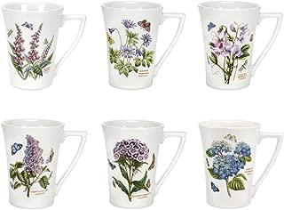Portmeirion Botanic Garden Set of 6 Mandarin Mugs (Assorted Motifs)