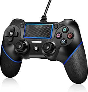 اداة تحكم لجهاز PS4 من اكلو، ذراع لعب بخاصية الاهتزاز المزدوج عند الصدمات لاجهزة Playstation 4 slim /Playstation 4 pro / P...