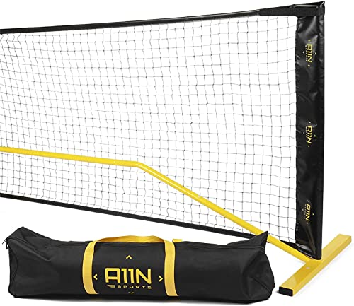 A11N Portable Pickleball Net System, Designed for All Weather Conditions with Steady Metal Frame and Strong PE Net, R...