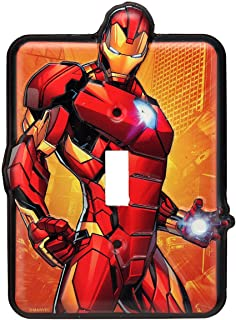 Open Road Brands Marvel Iron Man Tin Metal Wall Light Switch/Plate an Officially Licensed..