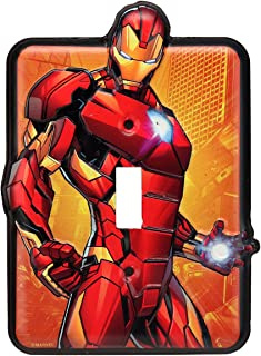 Marvel Iron Man Tin Metal Wall Light Switch/Plate An Officially Licensed Product Great Addition To Add What You Love to Your Home Decor