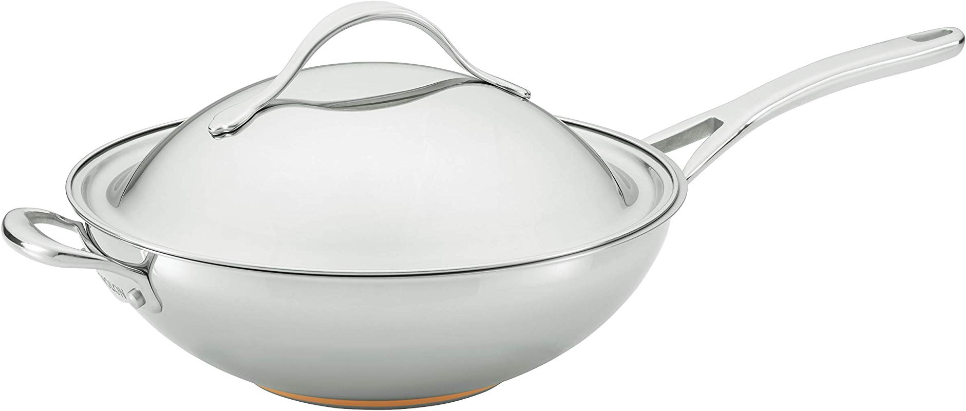 Anolon 77272 Nouvelle Copper Stainless Steel Stirfry Pan 12 5 Inch