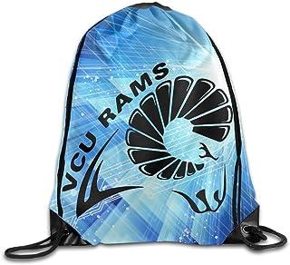 Virginia Commonwealth University Logo Drawstring Backpack Bag Gym Sack