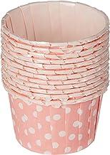 RedMan 53918 Souffle Baking Case Polka Dot, 44mm x 35mm, Pink (Pack of 100)