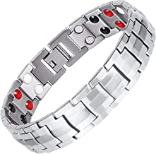 Double Row Magnetic Therapy Bracelet 4 in 1 Bio Elements Energy Health Care Jewelry Pain Relief for Arthritis and Carpal Tunnel