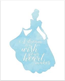 Summit Designs Cinderella Disney Princess Inspirational Quote - Photo Print (8x10) Poster