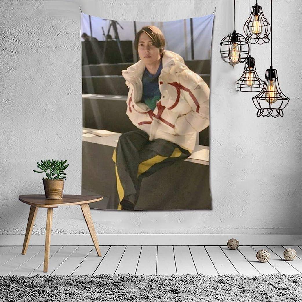 座る完璧な定義するタペストリー 山下智久 ファブリック装飾用品アートプリント 壁掛け布 壁掛け 壁飾り インテリア 布ポスター パーティー リビング 窓 お部屋 和室 お店 雑貨 個性ギフト 150*100cm