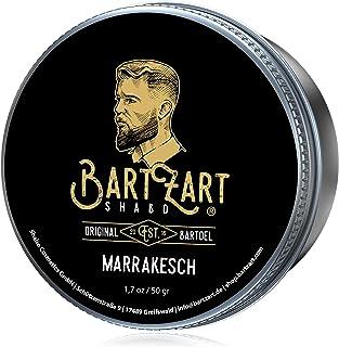 BartZart Marrakesch Bartwachs mit Zedernholz I 50g Bartbalsam für Männer I Bart Balsam mit Arganöl für gesundes Wachstum I Bart Wax direkt vom Barbier