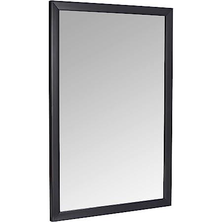 60,9 x 91,4 cm Basics Espejo para pared rectangular nogal marco biselado