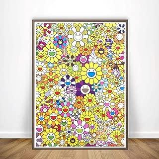 yhyxll Murakami Takashi Japanese Pop Poster Canvas Painting Print Wall Art Pictures Decoración para el hogar D 40x60cm