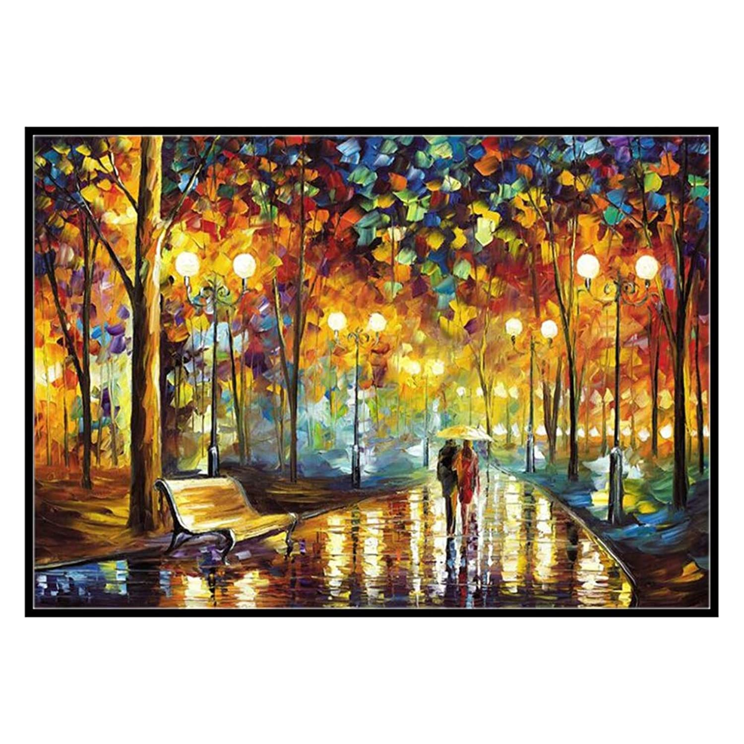 DIY 5D Diamond Painting, Full Drill Painting by Number Kit for Adult (Love Street, 1216 inch)