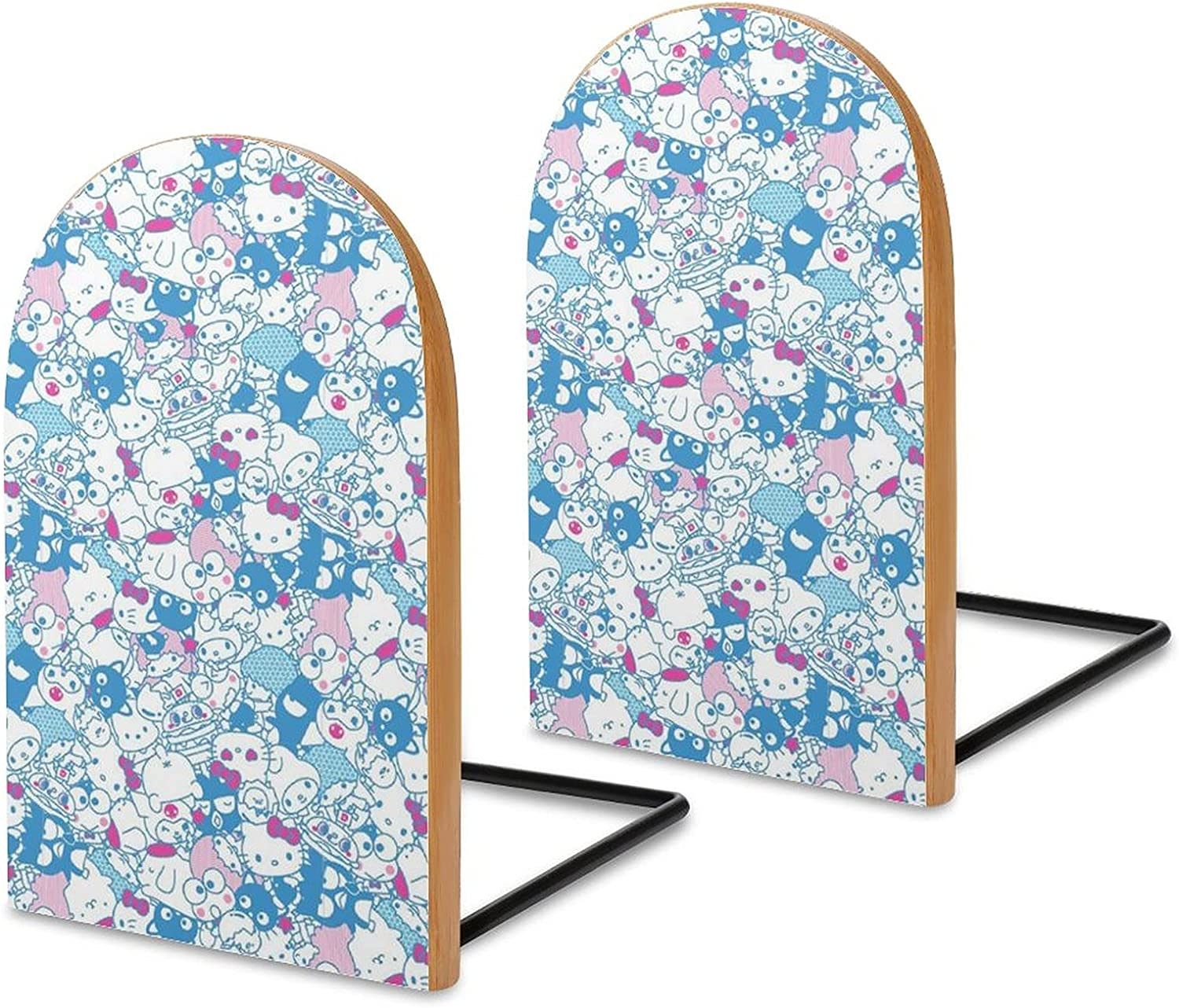 KRISMARIO Blue Hello Kitty Clearance All items in the store SALE Limited time 2pcs Logs Modern Heavy Wood Bookends