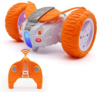 QUN FENG Remote Control Car RC Car for Kids 2.4Ghz Off Road Race Stunt Cars RC Toys 360°Spin Bounce Car Gifts for Boys Gir...