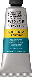 Winsor & Newton Galeria Acrylic Paint, 60ml Tube, Deep Turquoise, 60-ml