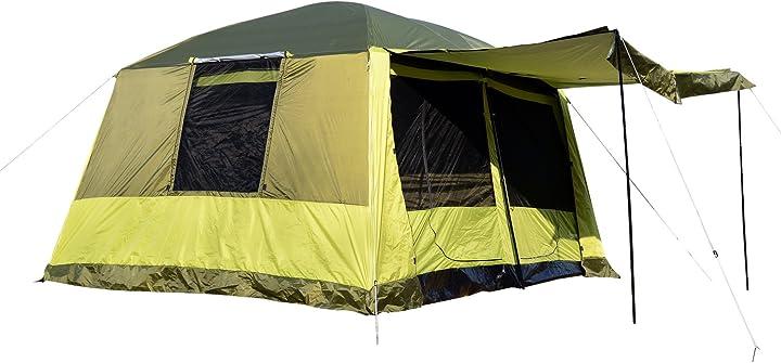 Tenda da campeggio con veranda 8 persone 410×310×225cm outsunny ITA20-0520631
