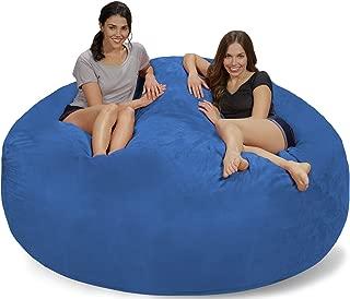Chill Sack Bean Bag Chair: Giant 7' Memory Foam Furniture Bean Bag - Big Sofa with Soft Micro Fiber Cover - Royal Blue Micro Suede