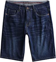 Luotuo Herren Jeansshorts Sommer Jeanshosen Freizeit Shorts Skate Board Stright Mode Freizeit Business Bequem und atmungsaktiv Denim Shorts Plus Size S-9XL