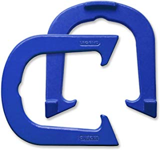 Legend Professional Pitching Horseshoes - Blue Finish - NHPA Sanctioned for Tournament Play - Drop Forged Construction - One Pair (2 Shoes) - Medium Weight