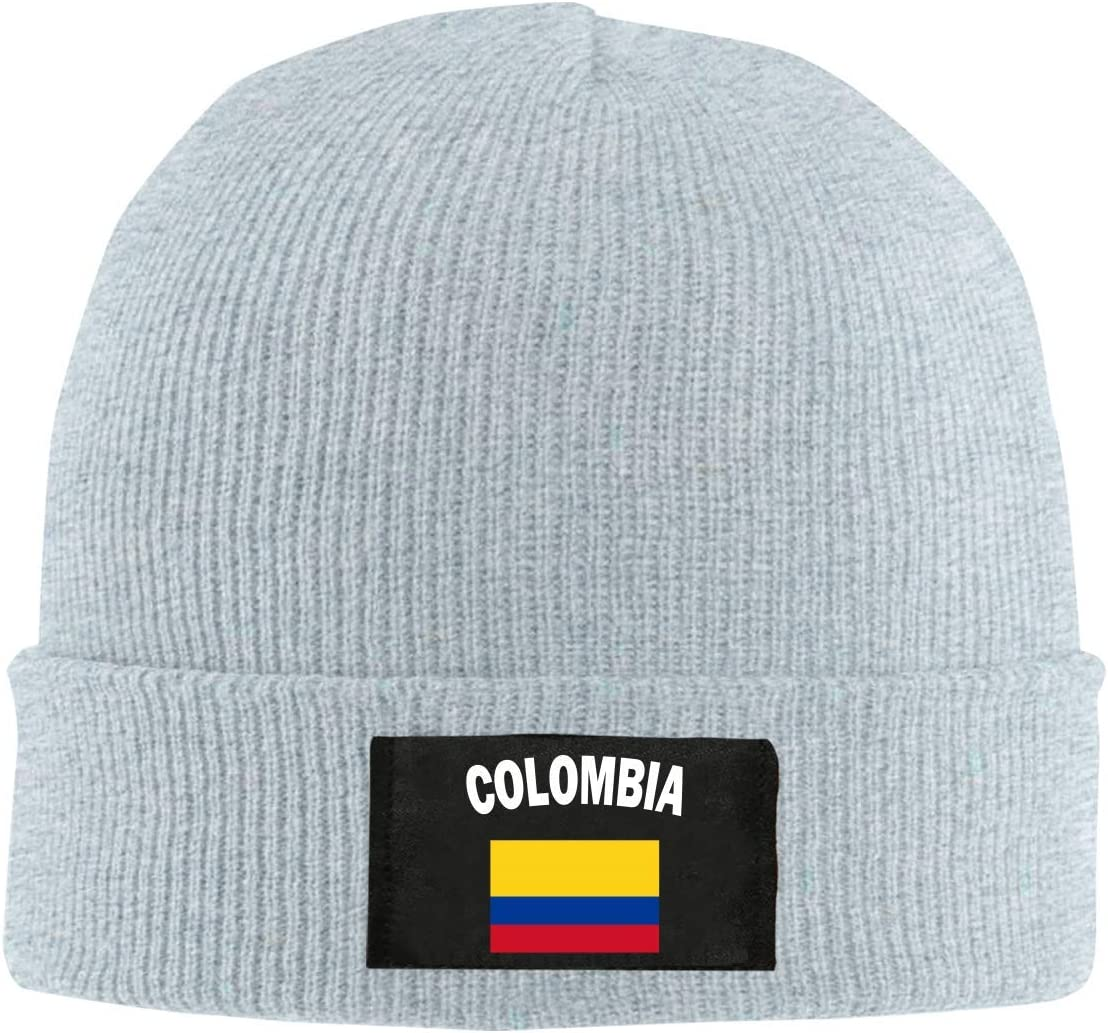XCNGG Gorro Jersey de Lana Unisex Mens and Womens Colombia Flag-1 Knit Cap,Thick Stretch Skiing Cap
