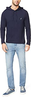 Nautica Men's Long Sleeve Pullover Hoodie Knit Shirt