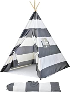 Kids Teepee Tent for Kids, No Toxic Chemicals Added, w/Carrying Case, Navy Kid Teepee Tent for Boys & Girls, Large Enough Tipi Tents for Adults Toddler Baby Boy Adult Children, Childs Reading Nook