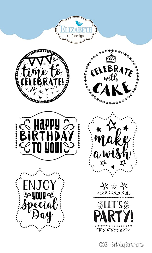 Elizabeth Crafts Clear Stamps-birthday Sentiments