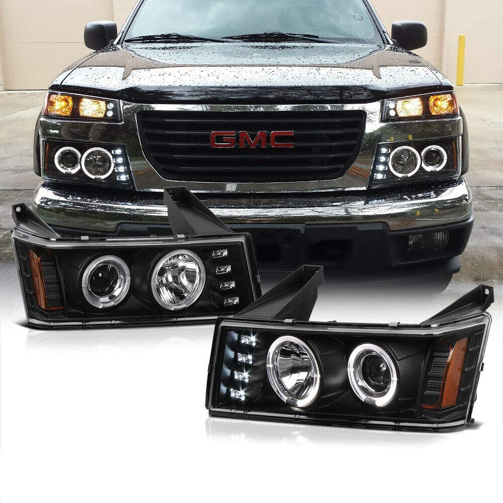 NEW Headlights Compatible Max 74% OFF with 2004-2012 Cany Colorado Indianapolis Mall