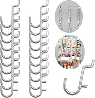 Calax Metal Pegboard Hook J Style for Peg Board Tool Organizer 100 Pieces