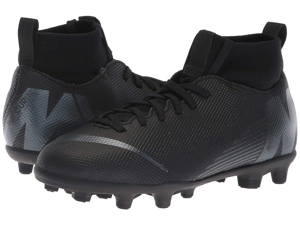 Nike Kids Superfly 6 Club MG Soccer (Little Kid/Big Kid) (Black/Anthracite/Black/Light Crimson) Kids Shoes
