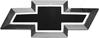 Front Grille Bowtie LED Light up Black & White or Gold & White Compatible with Chevrolet Silverao 1500 Suburban Tahoe 1999 2000 2001 2002 2003 2004 2005 2006 (Black & White)