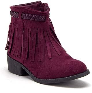 Little Kids' Toddler Girls Ankle High Booties Zipped Western Cowboy Dress Boots