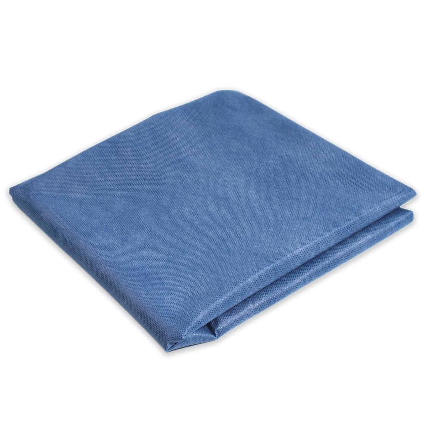Dynarex Premium Flat Cot Sheet 40 x 85 Dark Blue 50/cs