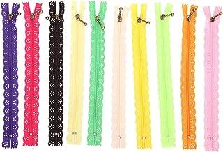 Zíper de nylon, zíper de costura firme e leve, resistente para design de roupas artesanais