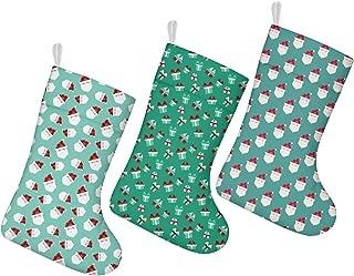 nsseoydkk Christmas Stockings Socks Christmas Tree Candy Cane Kids Christmas Stockings 3 Pack