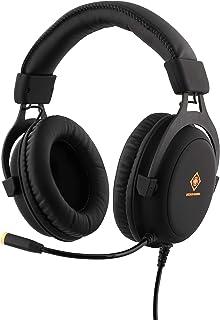 Deltaco GAM-030 - Auriculares estéreo para Videojuegos (57 mm), Color Negro