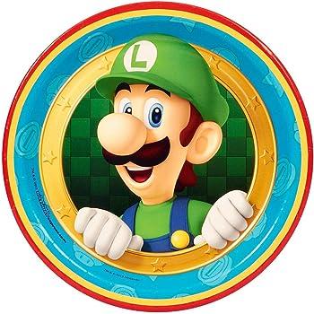 Forum Novelties 80638 Super Mario Party Supplies, Dessert Plates (8), Multi-color (Pack of 12)